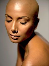 Promising stretched hair growth remedies for black women View features Bald Head Women, Bald Look, Shaved Hair Women, Natural Hair Styles, Short Hair Styles, Shave My Head, Going Bald, Bald Girl, Bald Heads