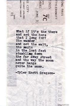 Typewriter Series #630 by Tyler Knott Gregson