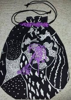 Handmade cotton canvas shoe bag with embroidered shoe design Colourful Purple cotton lining and ribbon adornment Draw string closure Approximately x Vera Bradley Backpack, Fashion Handbags, Holiday Parties, Cotton Canvas, Designer Shoes, Birthday Gifts, Christmas Gifts, Classy, Black And White