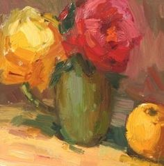Rose Study, painting by artist Kathryn Townsend by Betsy Webb