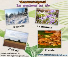 Learn the four seasons of the year in Spanish and talk about the weather with a complete Spanish lesson