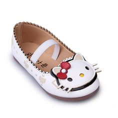 Wholesale Children Shoes for Girls Sneakers Soft Sole Kids Flats Loafers Shoes  Cute Hello Kitty Princess Shoes PU Leather Lovely Color White Pink Fashion  ... 824e769188d5