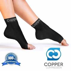 Copper Compression Foot Sleeves provide all day comfort and can also be worn while working out! Copper Compression is the OFFICIAL Copper Compression Foot Sleeve provider and we GUARANTEE to have the