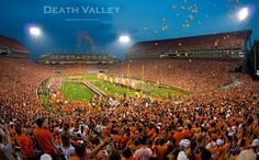 Isn't this the most beautiful picture of Death Valley? Counting down the days to kickoff. Go Tigers!