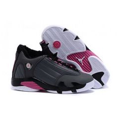 Women Nike Air Jordan 14 Retro With Velvet Grey Black Pink Nike Shoes For Sale, Nike Shoes Cheap, Cheap Nike, Buy Cheap, Air Max Sneakers, Sneakers Nike, Jordan 14, Strappy Shoes, Air Jordan Shoes