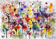Nocturne-CCXXVI(homage to Chopin) by Stanislav Bojankov : Work on paper Watercolor, Ink on Paper - Singulart Abstract Landscape, Abstract Art, Art Advisor, Watercolor And Ink, Watercolour Painting, Watercolors, Abstract Styles, Nocturne, Online Art Gallery