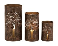 Benzara The Exceptional Metal Tree Hurricane Set of 3 -- To view further for this item, visit the image link.Note:It is affiliate link to Amazon.