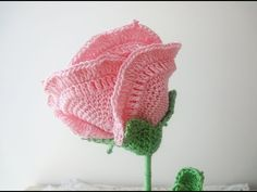 How To Crochet A Rose: Easy Crochet lessons to crochet flowers part 3:2 - YouTube
