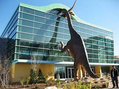 Dinosaur Museum in Indianapolis, Indiana. Musée des Dinosaures à Indianapolis, Indiana.