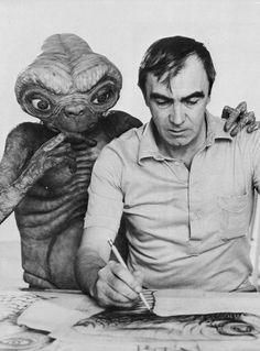 E.T. the Extra-Terrestrial and creator, Carlo Rambaldi (1925-2012). #et #fun