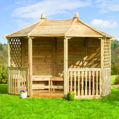This Pavilion is a great addition to any garden providing lots of room to entertain or just relax with a nice cup of tea! Plenty of room for your friends and family too.