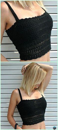 Crochet Casual Crop Top Free Pattern - Crochet Women Crop Top Free Patterns