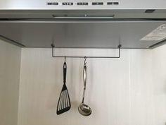 100均DIY♪Seria(セリア)のアイアンバーのサイズ、長さと活用法♪物干し、調理器具掛け、オーブン皿や歯ブラシの収納にも♪