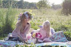 Mother daughter photo shoot, summer, fairy tea party, beauties. Doing this once Alysse reaches kindergarten.