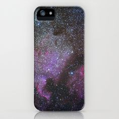 North America Nebula and Pelican Nebula iPhone Case by Guido Montañés - $35.00