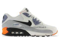 Boutique Nike Officiel Nike Air Max 90 Premium Chaussures Pas Cher Pour Homme Blanc/Noir/Gris