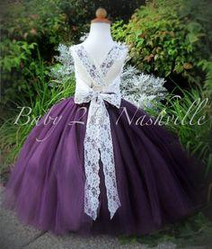 92ad29edf2f PLUM FLOWER GIRL DRESSES - Sanmaz Kones
