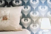 How about painting a wall behind our bed with a pattern?
