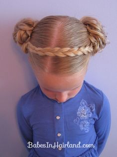 Braid Headband & Messy Buns from Babes in Hairland  #messybuns #braidedheadband
