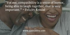 """For me, compatibility is a sense of humor, being able to laugh together; that is very important."" ~ Felicity Kendal  #Quote #Love #Marriage #Wedding #Relationships #Datelivery #DateNight #datenite #Couples #Husband #newlyweds #relationshipgoals #Wife #bae #baby #photooftheday #instamood #amazing #picoftheday #girl #beautiful #like #follow #like4like #bestoftheday #happy #friends #smile #followme #tagafriend"
