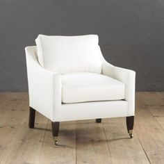 Griffin Club Chair with Self Welts | Ballard Designs - lots of fabric choices - see swatches
