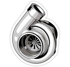 turbo charger: Sports turbine engine on white isolated background Illustration Tuner Cars, Jdm Cars, Carros Turbo, Car Tattoos, Turbine Engine, Garage Art, Car Hacks, Turbo S, Car Drawings