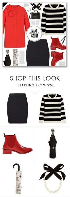 """Black and Red"" by cowseatchard ❤ liked on Polyvore featuring T By Alexander Wang, The Kooples, Kate Spade, Alexander McQueen, MANGO, Lulu Frost and Old Navy"