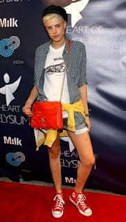 Agyness Deyn Chain Strap Bag - Agyness Deyn Handbags Looks - StyleBistro Skater Girl Outfits, Skater Girls, Tomboy Fashion, Fashion Models, Tomboy Style, Agnes Deyn, Grunge Hair, Love Her Style, European Fashion