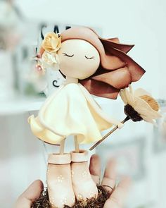 Polymer Clay Figures, Fondant Figures, Lalaloopsy, Magnolia, Biscuit, Clay Figurine, Doll Tutorial, Pasta Flexible, Cold Porcelain