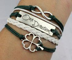 One Direction bracelet lucky flower bracelet infinity by handworld, $5.59