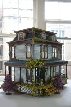 haunted dollhouse Visit the post for more. Haunted Dollhouse, Haunted Dolls, Dollhouse Kits, Dollhouse Miniatures, Haunted Houses, Halloween Village, Halloween Doll, Halloween Decorations, Halloween Witches
