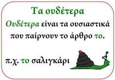 Εποπτικό: Τα γένη | Learn Greek, Greek Alphabet, Greek Language, Home Schooling, Classroom Decor, Second Grade, Grammar, Teaching, Education