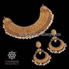 Gold Necklace with Chandbalis | Jewellery Designs