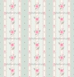 Shabby Chic Wallpaper Border With Roses In Style Rh Com Antique Vintage Texture Victorian Rose