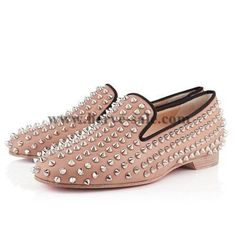Christian Louboutin Rolling Spikes Nude