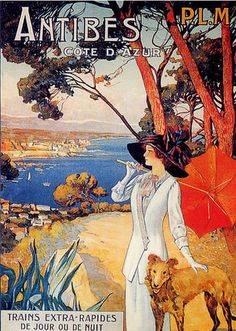 old poster- 1910 Antibes