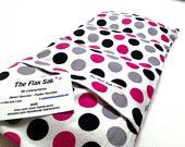 """FLAX HEATING PAD, Microwavable""""The Flax SaK"""" Choice of brushed Flannel washable covers, Flax seed Bag, Great Gift, 100 % Flax seeds"""