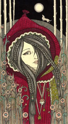 "Anita Inverarity - ""Piku Punahilkka"" (According to artist, Finnish for 'Little Red Riding-hood,'"