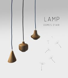 Lamp wood Domes d'air Adidea Design by Patricia Alonso