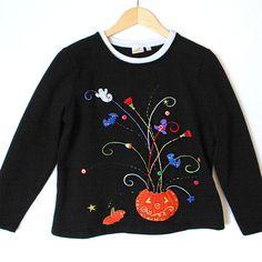 Exploding Pumpkin Tacky Ugly Halloween Sweatshirt Sweater Shop, Ugly Sweater, Sweaters, Halloween Sweatshirt, Great Memories, Spooky Halloween, Being Ugly, Pumpkin, Sweatshirts