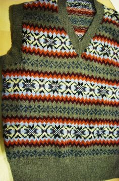 Mens Red Sleeveless Sweater Vest