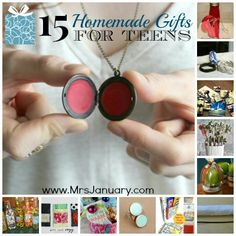 Do you have teens on your gift list this year? If so, you'll definitely want to check out this list of 15 fun homemade gift ideas for teens. Lots of great ideas!