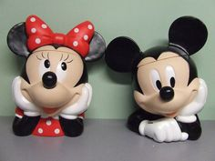 Mickey & Minnie Mouse Cookie Jars by Applause