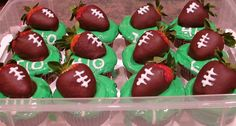 Strawberry Football Cupcakes
