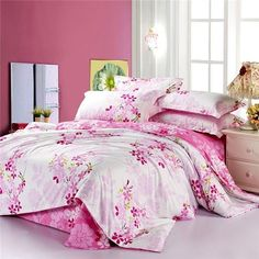 Twin Bed Sets With Comforter Refferal: 8953543524 Cheap Bedding Sets, Cotton Bedding Sets, Best Bedding Sets, Pink Bedding, Comforter Sets, Luxury Bedding, Floral Comforter, Affordable Bedding, Cotton Duvet