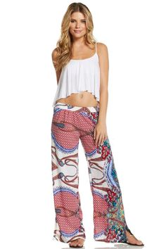 Palazzo pants with tank crop top #summertime #palazzo #croptop