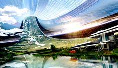 Lake inside a Stanford Torus World.  #StanfordTorus    #ArtificialWorlds  #SpaceColony  #OrbitingColony  #SpaceWorld