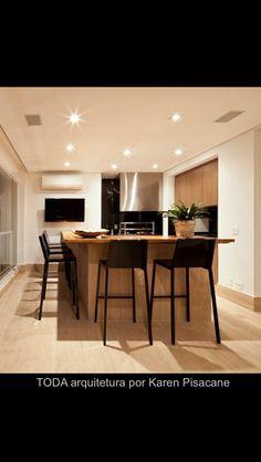 Churrasqueira - Varanda de apartamento , projeto de Karen Pisacane da TODA arquitetura