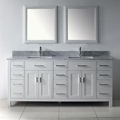 60 Inch Malibu Pure White Double Sink Bathroom Vanity Overstock Shopping Great Deals On