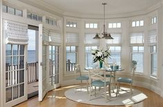 Bright and airy dining area with ocean view